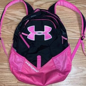 Pink under armour back pack